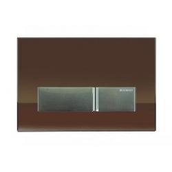115.600.SQ.1 Geberit Zestaw wykończeniowy z przyciskiem Sigma40 do elementu montażowego do WC z odciągiem Szkło umbra/aluminium