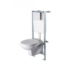 Zestaw DURASAN stelaż podtynkowy wc z przyciskiem CHROM