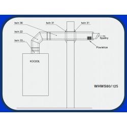 Poziomy zestaw odprowadzania spalin WHWS-80/125