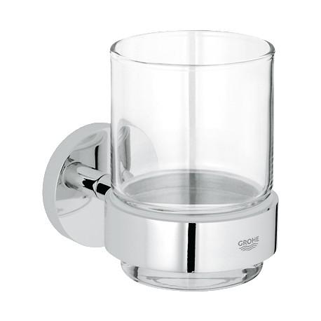 GROHE  Essentials uchwyt 40369000 ze szklanką 40372000
